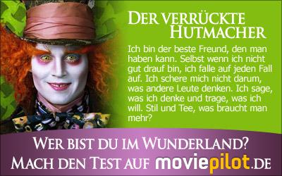 Wer bist du im Wunderland? Mach den Test bei der Film-Community moviepilot
