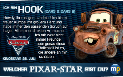 Welcher Pixar-Star bist du? Spiel das Quiz zum Start von CARS 2 bei moviepilot