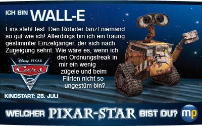 Welcher Star aus einem Pixar-Film bist du? Spiel das Quiz zum Start von Disney Pixars CARS 2 bei moviepilot