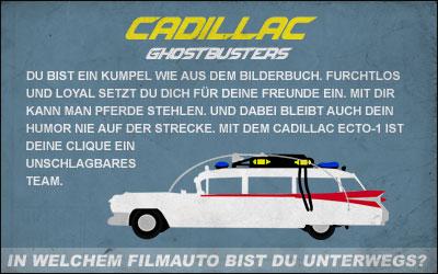 In welchem Filmauto bist du unterwegs? Mach den Test bei moviepilot