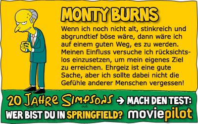 Wer bist du aus Springfield? Mach das Die SIMPSONS-Quiz bei moviepilot
