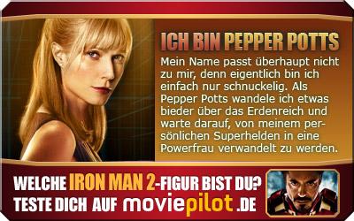Welche Figur aus IRON MAN 2 bist du?? Mach den Test bei der Film-Community moviepilot